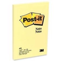 "Post-it® Notes 4"" x 6"", Canary Yellow, 100 Sh/Pad, [Ref: 659]"