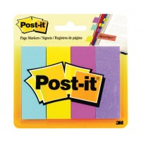 "Post-it® Page Markers, 4 x 50 sh/Pack, 7/8"" x 2 7/8"" Ultra Colors [671-4AU]"