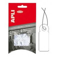 APLI 7005 Strung Tickets 9X24MM White PK/200