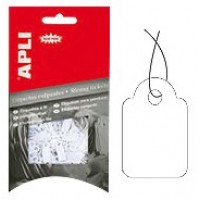 APLI 7009 Strung Tickets 15X24MM White PK/200