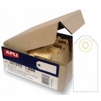 APLI 121376 Strung Tickets W/ Ring Cream 125X63MM PK/1000