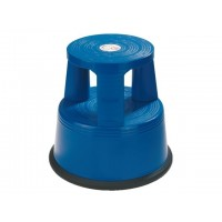 DESQ Plastic Roll Step Stool Height 37cm 150kg Capacity Blue