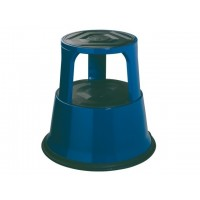 DESQ Metal Roll Step Stool Height 43cm 150kg Capacity Blue