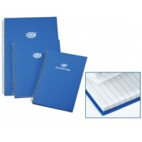 FIS Manuscript Book Side Spiral A4 Ruled 2QR 96 Pg.