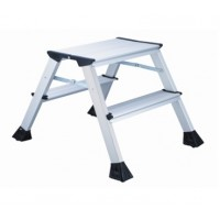 L2 Foldable 2-Step Ladder, Aluminum Height 45cm 150kg Capacity