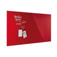 Magnetoplan Magnetic Design Glassboard 200X100cm Intense Red