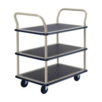 Prestar NB-105 Platform Trolley, Triple Deck Dual Handle 150kg | Japan