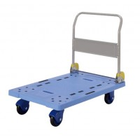 Prestar PF-301C-P Plastic Platform Trolley, Folding Handle, 300kg | Japan