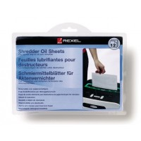 Rexel Shredder Oil Sheets PK/12 [2101948]