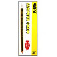 AMEST HB Pencil with Eraser Tip, 12/box
