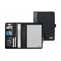 Atlas A4 Executive Portfolio with Magnetic Closure Black