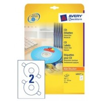 Avery® L6015-25 CD Labels, 117 mm [50 Labels] for Laser & Inkjet Printers