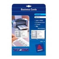 Avery C32011-25 Business Cards Matt, 200g [PK/250]