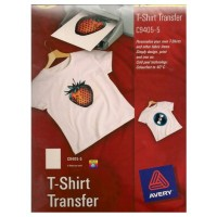 Avery C9405-5 Light T-Shirt Transfer White [PK/5]