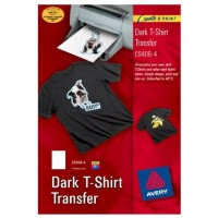 Avery C9406-4  Dark T-Shirt Transfer White [PK/4]
