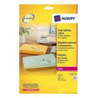 Avery® L7551-25 Crystal Clear Address Labels, 1625/Pack, 38.1 x 21.2 mm