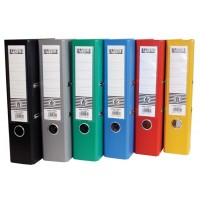 PP Colored Box File, F/C, Broad (8cm) Spine, Red