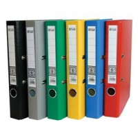 PP Colored Box File, F/C, Narrow (4cm) Spine, Red
