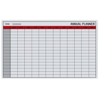 Bi-Office Magnetic Glass Annual Planner 78 x 48 cm