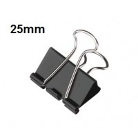 Binder Clips, 25mm 65 sheets Capacity Pack/12