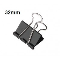 Binder Clips, 32mm (Medium) 80 sheets Capacity Pack/12