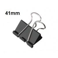 Binder Clips, 41mm 100 sheets Capacity Pack/12