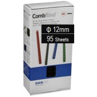 Plastic Binding Combs PK/100 12mm (95 Sheets) Black