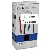 Plastic Binding Combs PK/100 14mm (125 Sheets) White