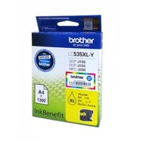Brother LC535XL-Y Yellow Ink Cartridge (1300 Pages)