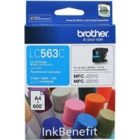 Brother LC563C Cyan Ink Cartridge (600 Pages)