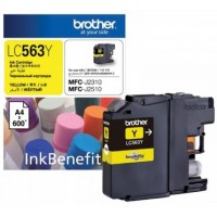 Brother LC563Y Yellow Ink Cartridge (600 Pages)