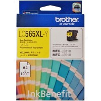 Brother LC565XL-Y Yellow Ink Cartridge (1200 Pages)