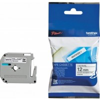 Brother M-K231 M Series Tape, 12mm Black on White