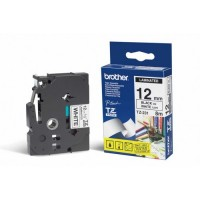 "Brother TZ-231 P-touch® Label Tape, 12mm, (1/2""), Black on White"
