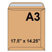 "Brown Envelopes, 120gsm, (A3) 17.5"" X 14.25"" [Pack/250]"