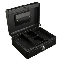 "Partner Cash Box (10"") L250xW180xH90mm, Black"