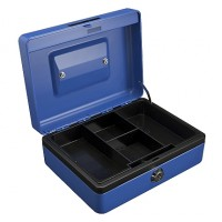 "Partner Cash Box (10"") L250xW180xH90mm, Blue"