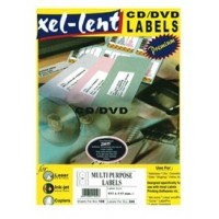 Xel-lent CD/DVD Labels - Dia 117mm, [Pack of 200 Labels]