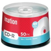 Imation CD-R, 80Min/700MB, 52X, 50/Spindle
