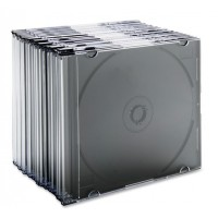 Slim Single CD Case Black PK/50
