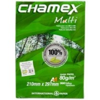 "Chamex Photo Copy Paper, White, 80 gsm, 8.5"" x 11"" [1x500]"