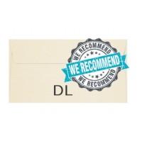 Conqueror Envelopes 120gsm DL (110X220mm) Cream Laid (Classic Textured) PK/500