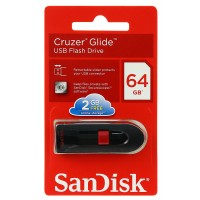 SanDisk 64GB Cruzer Glide Flash Drive, USB 2.0