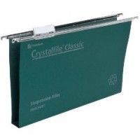 Rexel Crystalfile Classic Suspension Files 50mm Capacity F/S Green [Box/50]