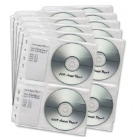 DAC MP-949 CD/DVD Binder Insert Sheet C/W Indexing. [Pack of 10]