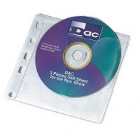 Double Sided CD/DVD Binder Pockets [Pack of 100] 200 Disc