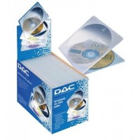 DAC MP-155 Slimline CD Jewel Cases - Clear/Frost [Box of 100]