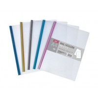 Deli E5530 Sliding Bar Report Covers, A4 Clear/Assorted, Pack Of 5