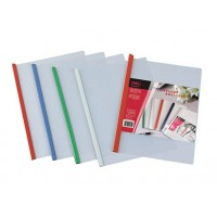 Deli E5531 Sliding Bar Report Covers, A4 Clear/Assorted, Pack Of 5