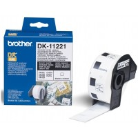 Brother DK-11221 - Permanent Square Labels, 23 x 23mm [1000/Roll]
